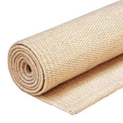 Yoga Rug Baumwoll Teppich Natur