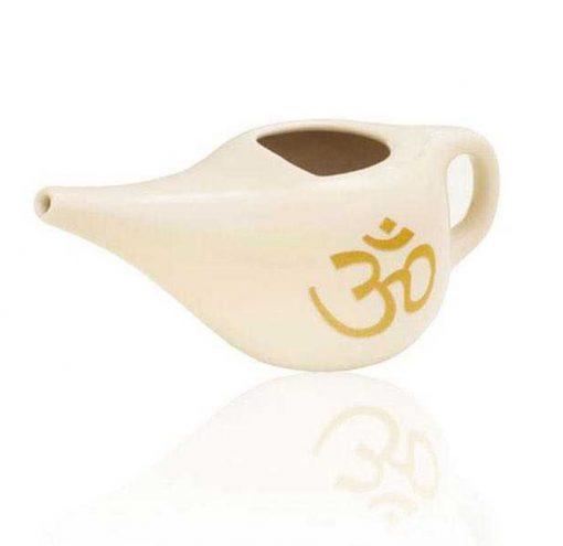 Neti Pot traditionelles Nasenspülkännchen Creme Om