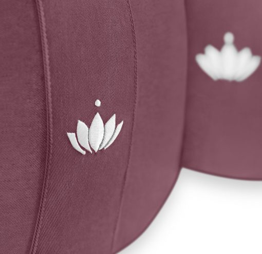 Lotus Bio Meditationskissen 20 cm Aubergine