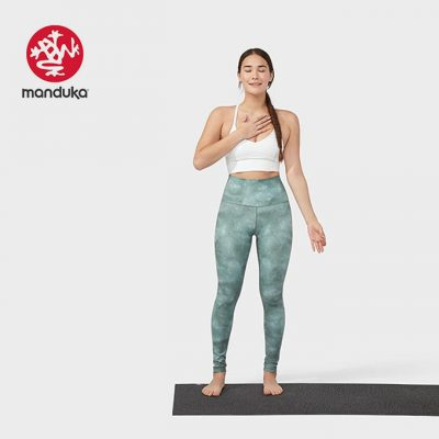 Manduka® essence legging printed greens