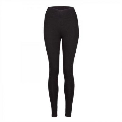 Yamadhi Basic Yoga Legging Crossed Waist schwarz