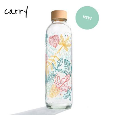 Carry Bottle 2020 Glas Trinkflasche FALLING LEAVES