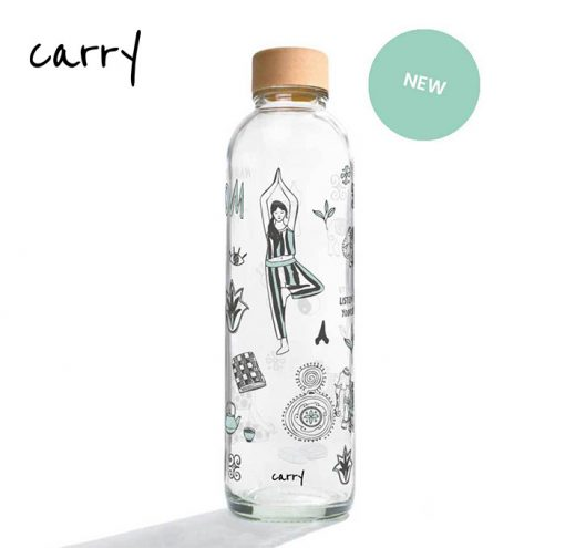 Carry Bottle 2020 Glas Trinkflasche NAMASTHE