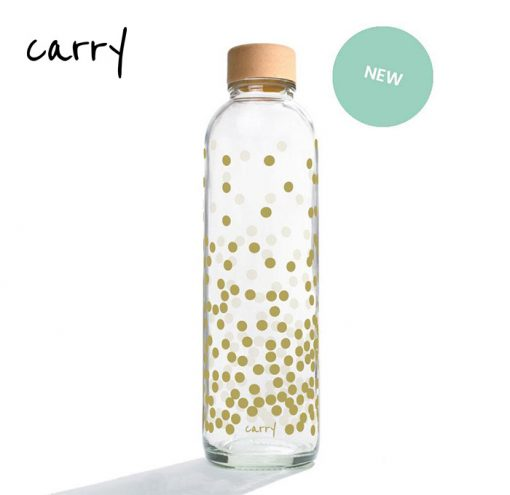 Carry Bottle 2020 Glas Trinkflasche PURE GOLD