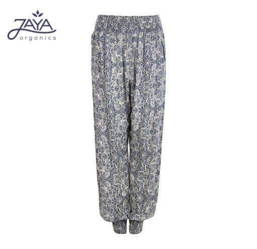 Jaya Fashion Yoga Pants Ananda Paisly Blue