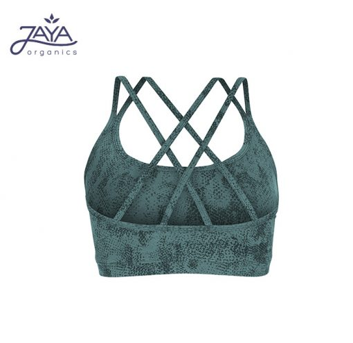 Jaya Fashion Damen Yoga Bra Loona Snake Pinegreen