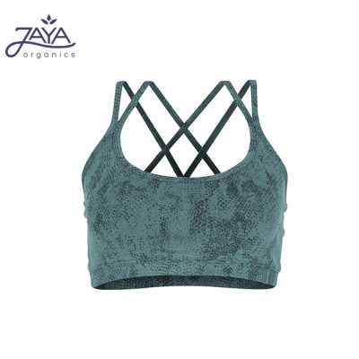 Jaya Fashion Damen Yoga Bra Loona Snake Pinegreen
