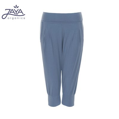 Jaya Fashion Damen 3/4 Hose Nidhi Bluegrey