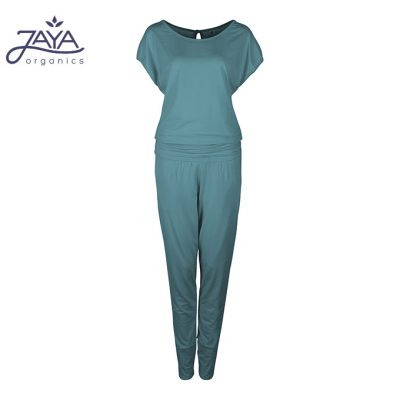 Jaya Fashion Damen Yoga Jumpsuit Raya Pinegreen