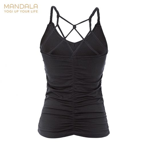 Mandala Fashion Yoga Cable Top Black