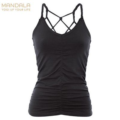 Mandala Fashion Yoga Cable Top Black