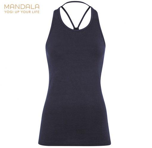 Mandala Fashion Extra Long Yoga Top Dark Indigo