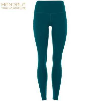 Mandala Fashion High Waist Basic Legging tropical green