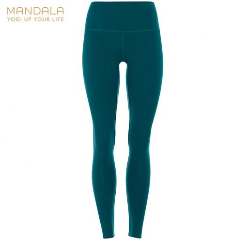 Mandala Fashion High Waist Basic Legging tropical green