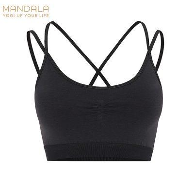 Mandala Fashion Slim Studio Bra - Black