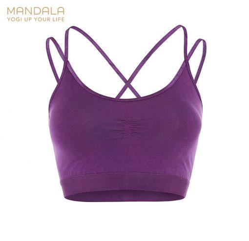 Mandala Fashion Slim Studio Bra - Purple
