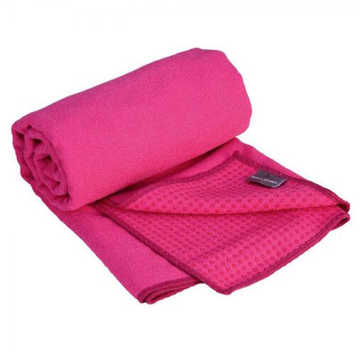 Yogahandtuch Antirutsch Noppen Himbeer Pink