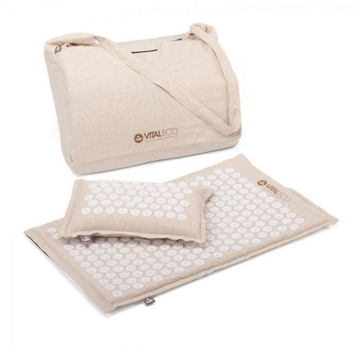 Vital Eco Akupressur Kissen Matten Set aus natürlichen Materialien