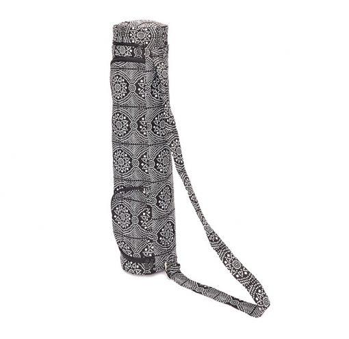 Asana Bag 60 70 cm Baumwolle Bandhani Schwarz Weiß