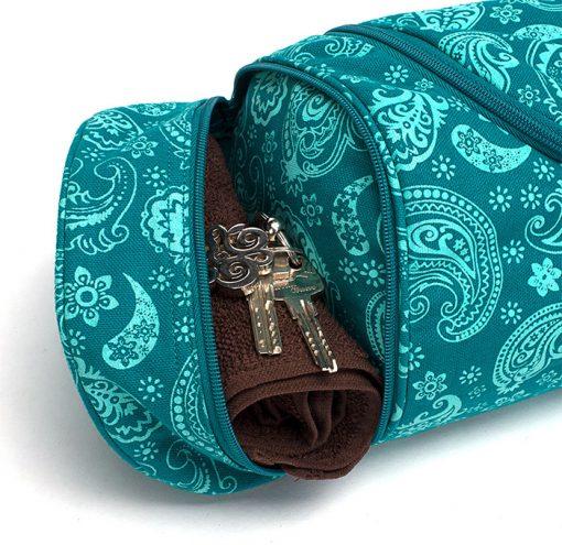 Asana Bag 60 70 cm Baumwolle Paisley Petrol