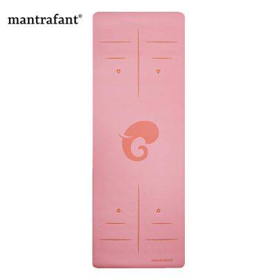 Mantrafant PU Naturkautschuk Yogamatte Berry Pink