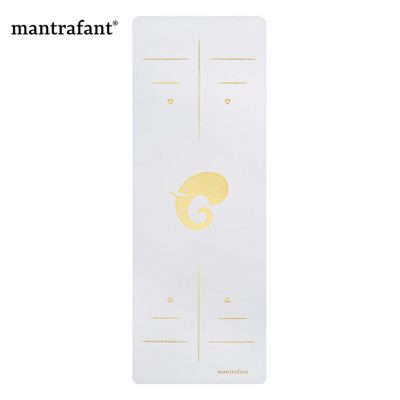Mantrafant PU Naturkautschuk Yogamatte Ivory Gold