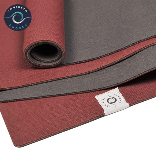 ASouthern Shores The Ocean Mat Bordeaux Rot
