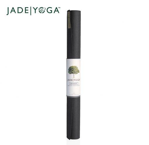 JadeYoga Voyager Travel Reise Yogamatte Black