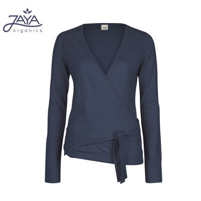 Jaya Fashion Yael Wrap Wickeljacke Nightblueslub