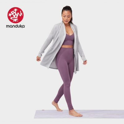 Manduka Yoga meditation cardigan Grey