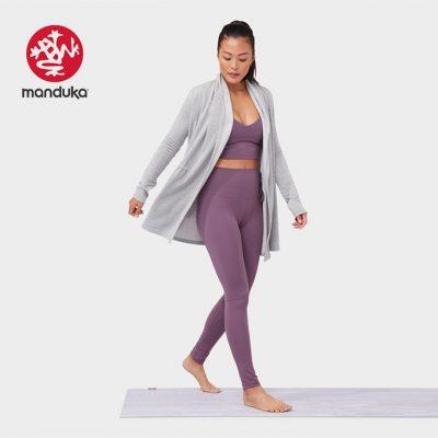 Manduka Yoga meditation cardigan Grey