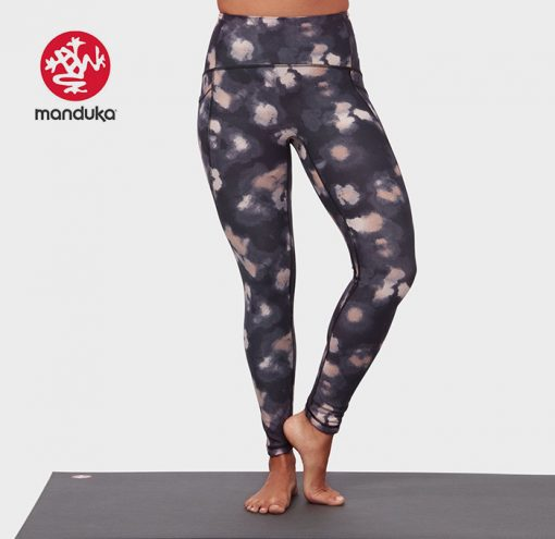 Manduka®presence legging swash floral neutrals