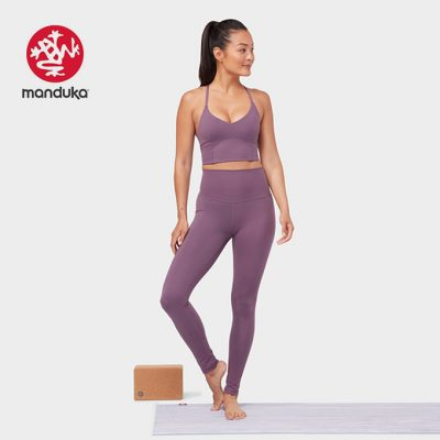 Manduka essence Yoga Leggings amethyst violet