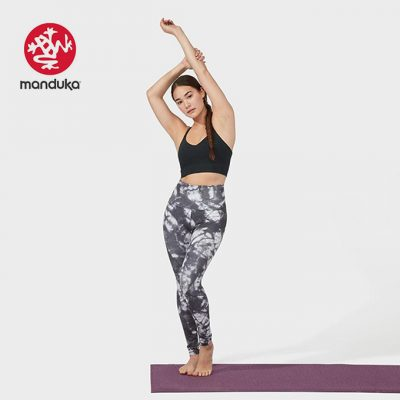 Manduka® essence legging printed camo tie dye blacks