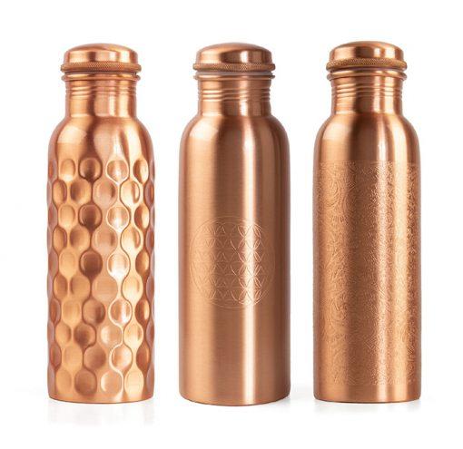 Kupferflasche 800 ml für ayurvedischer Lehre