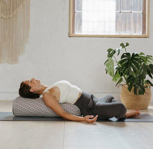 Yoga Bolster Restorative Bio Block Print Edition