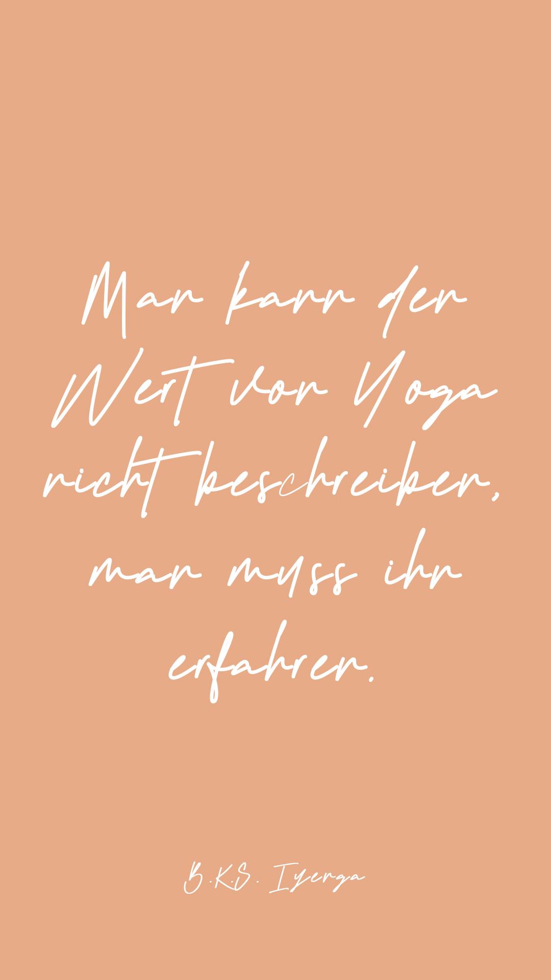 Der Wert von Yoga
