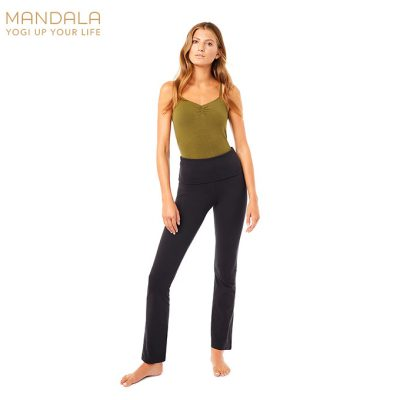 Mandala Fashion Classic Rolldown Yoga Pants Black