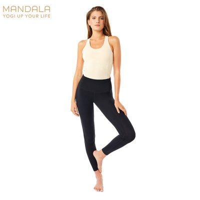 Mandala Fashion High Rise Basic Legging Black