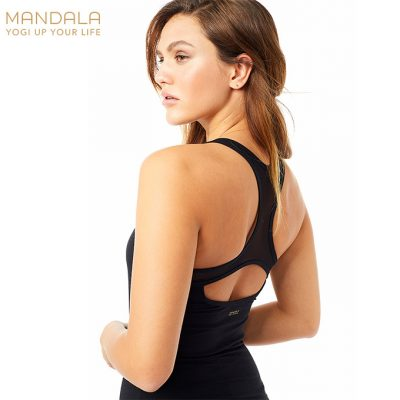 Mandala Fashion Open Back Top Black