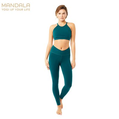 Mandala High Rise Wrap Yoga Legging Jungle
