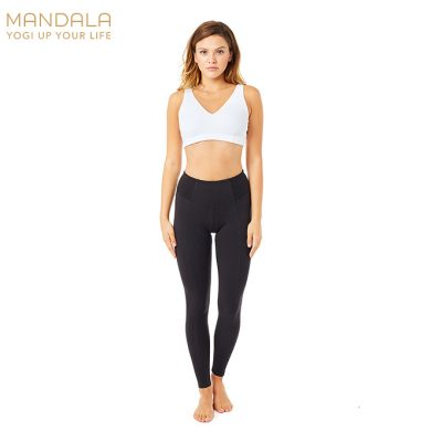 Mandala Fashion Ribbed High Rise Legging Yoga Black