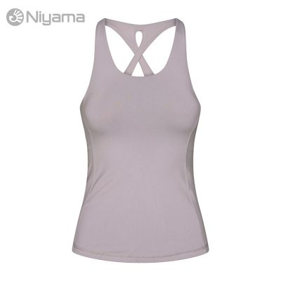 Niyama Cross Tank Top Yoga Fitness Light Pearl