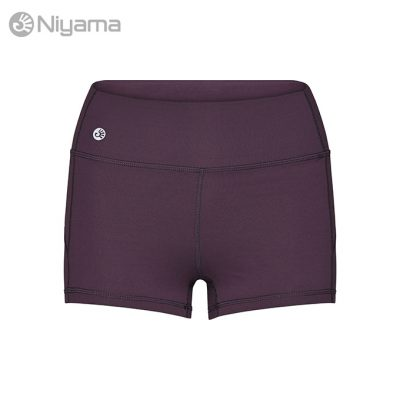 Niyama Gym Shortie, Short Yoga Tights Dark Purple