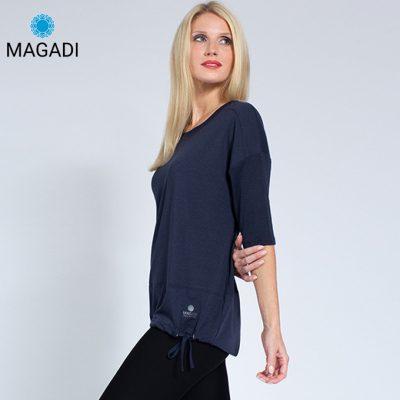 Magadi Yoga Wear Shirt Sara Navy