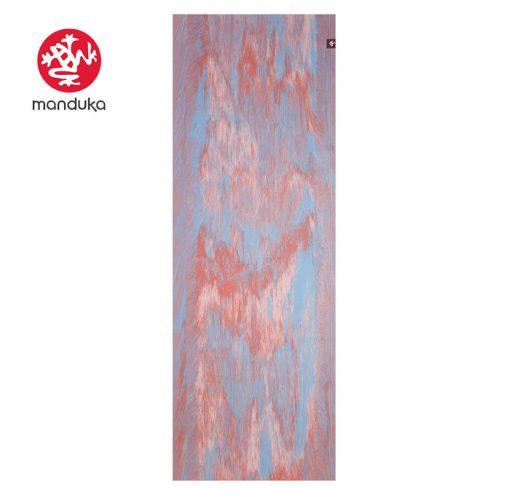 Manduka Superlite Travel Naturkautschuk Yogamatte deep coral marbled