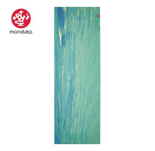Manduka Superlite Travel Naturkautschuk Yogamatte digi lime marbled