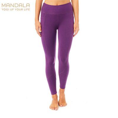 Mandala Fashion Yoga Pocket Tights Purple