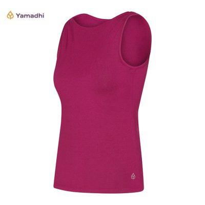 Yamadhi Yoga Tank Top Boat Neck Berry Purple Grape