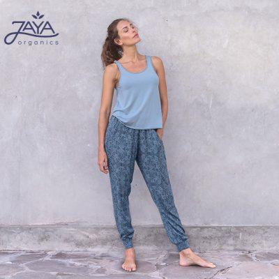Jaya Fashion Yoga Damenhose Ananda Paisley Petrol